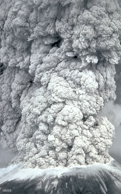 Ash Column from Mt. St. Helens