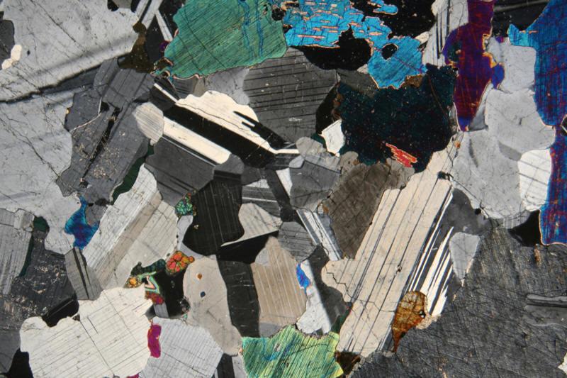 Microscope photo of Igneous Rock