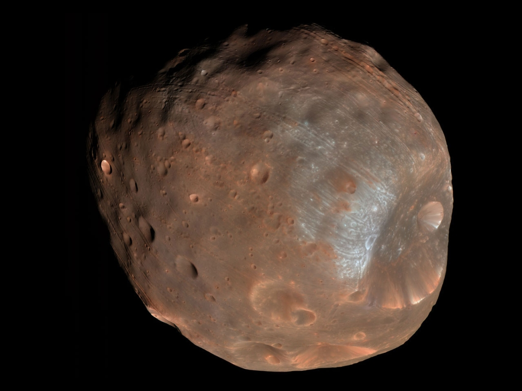 One of Mars' Moons