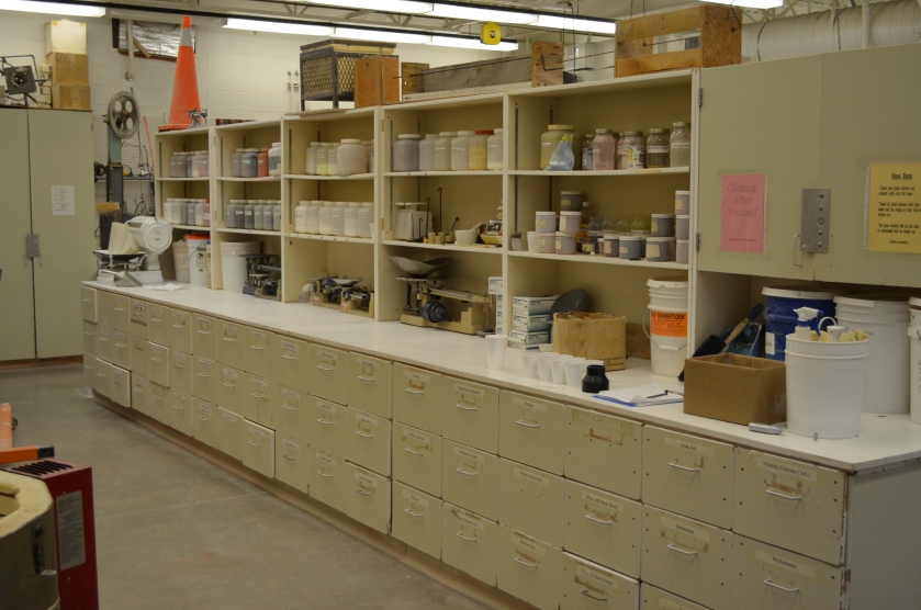 The glaze lab.