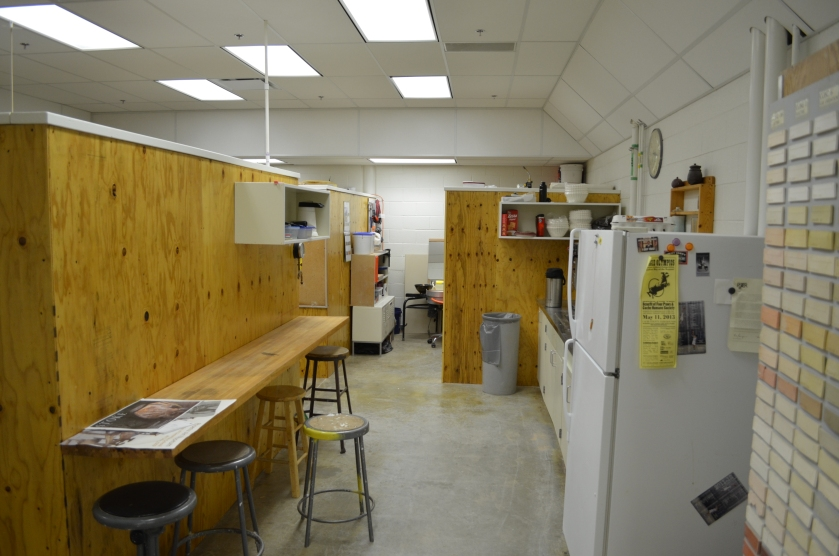 The new kitchen area.