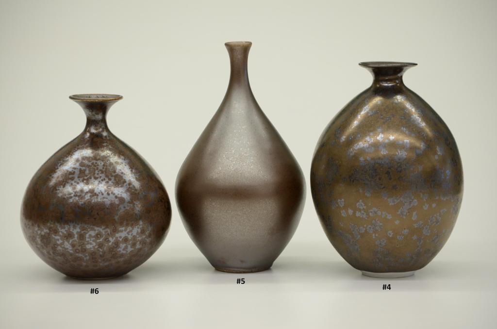 #6, #5, #4 Manganese Saturate Crystalline Glazes