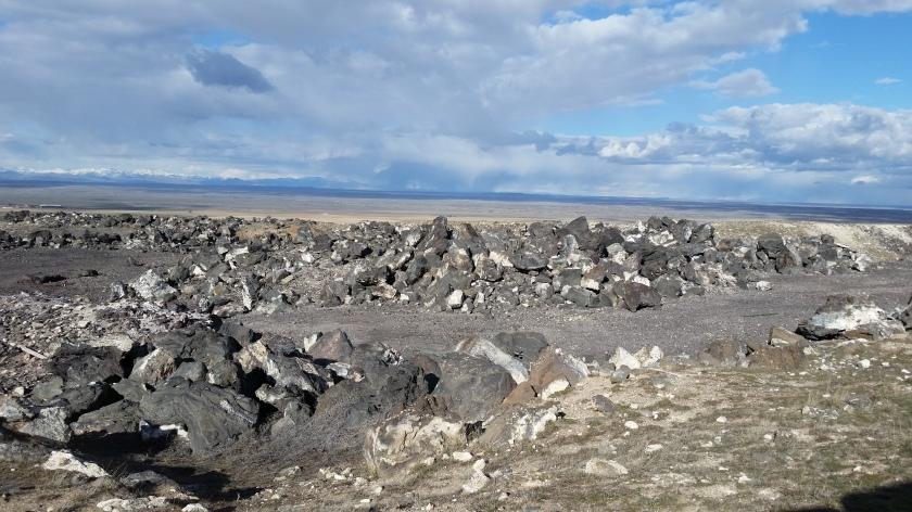 A Basalt Quarry near Paul, Idaho.
