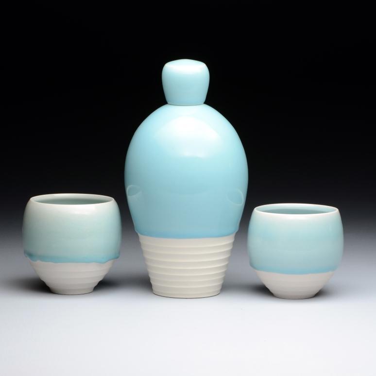 Bottle, Cups, Porcelain, 2015