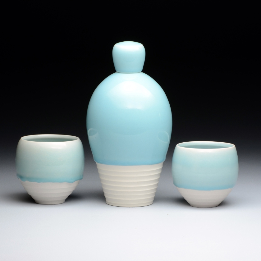 Bottle, Cups, Porcelain, 2015