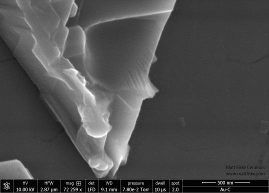 Oilspot Glaze Hematite Delta Structure 72259x